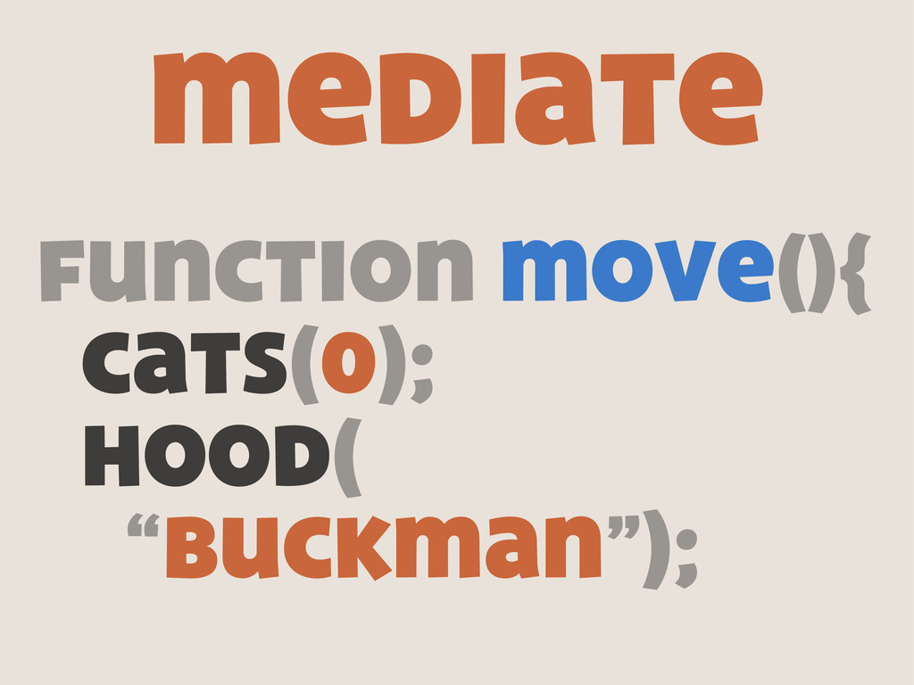 "function move(){ cats(0); hood( ""buckman""); med..."