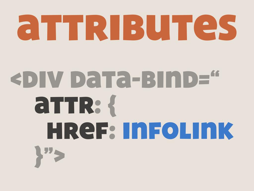 """<div data-bind="""" attr: { href: infolink }""""> att..."""