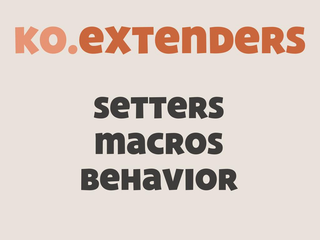 setters macros behavior ko.extenders