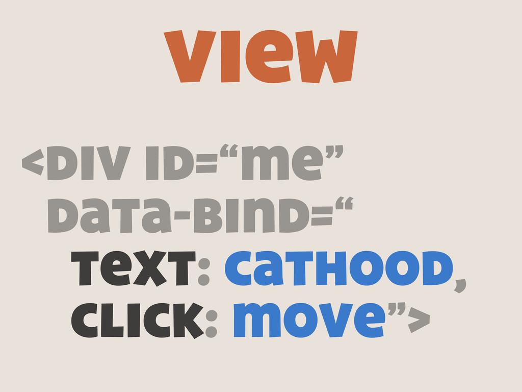 "<div id=""me"" data-bind="" text: cathood, click: ..."