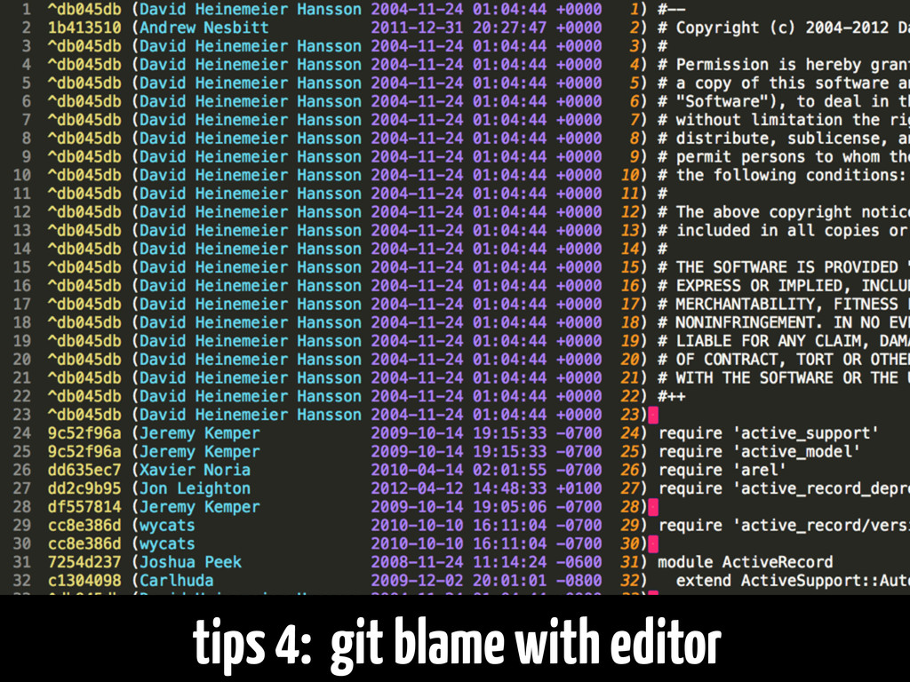 tips 4: git blame with editor