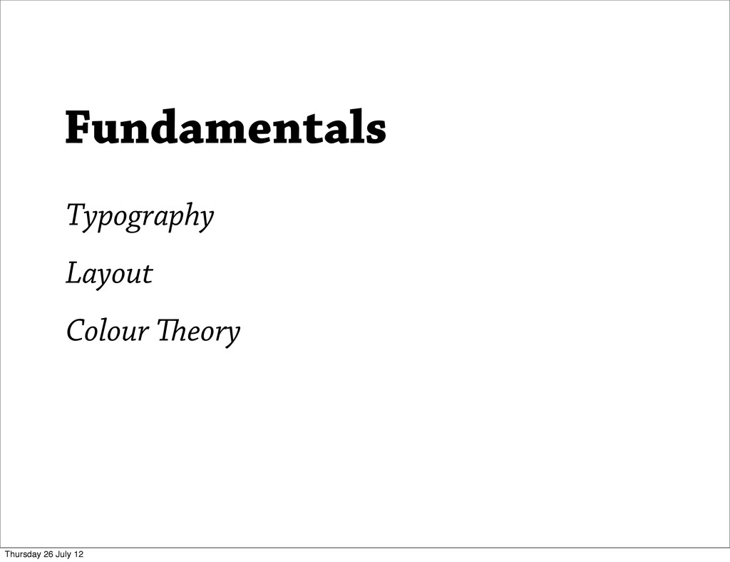 Typography Layout Colour eory Fundamentals Thu...