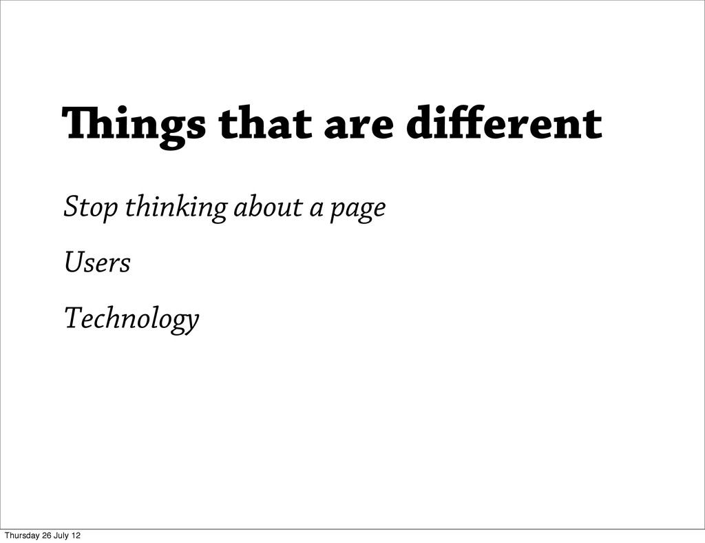 Users Technology ings that are different Stop t...