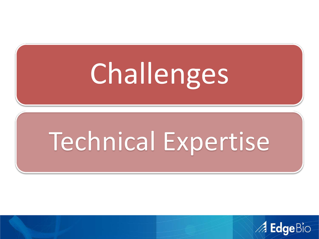 Challenges Technical Expertise