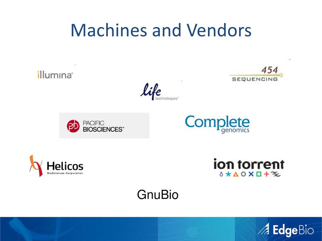 Machines and Vendors GnuBio