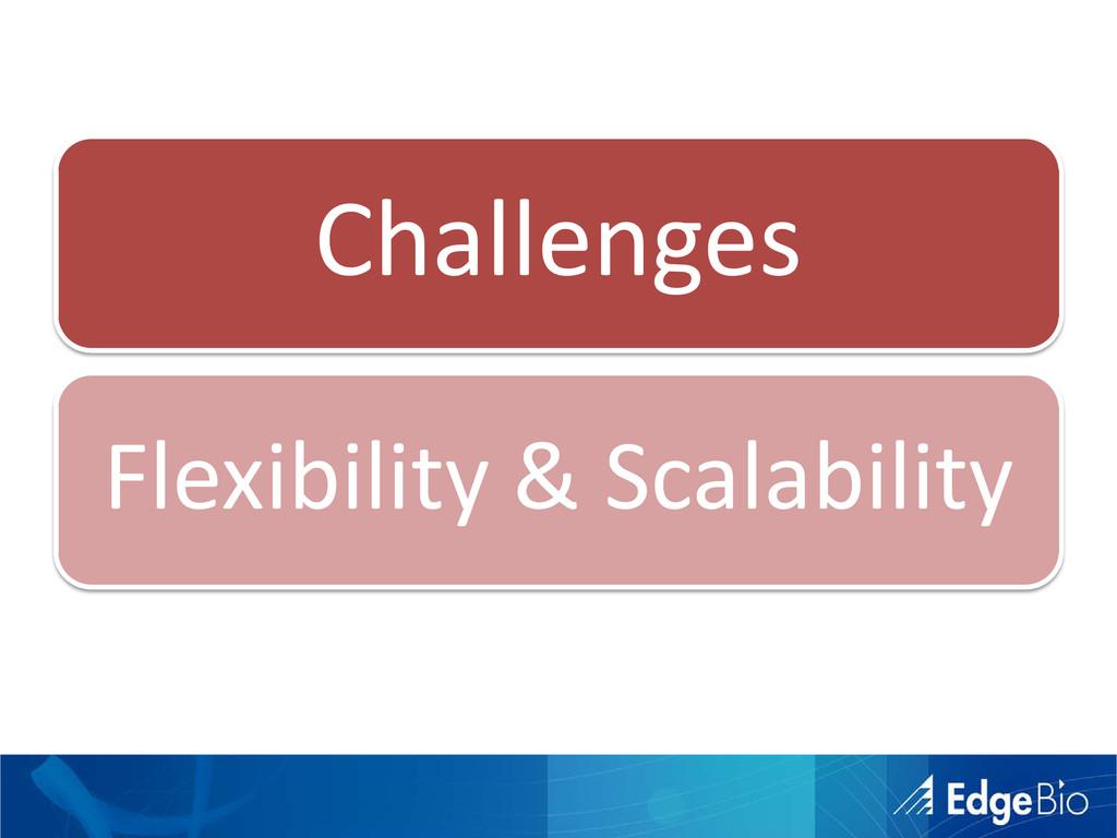 Challenges Flexibility & Scalability