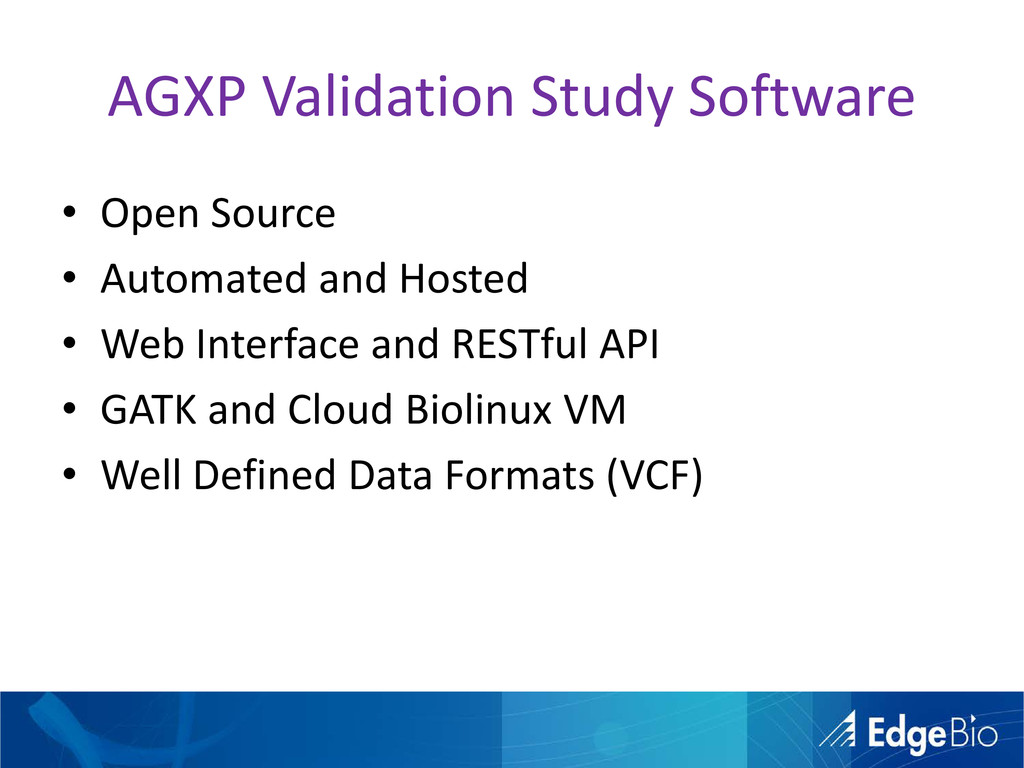 AGXP Validation Study Software • Open Source • ...