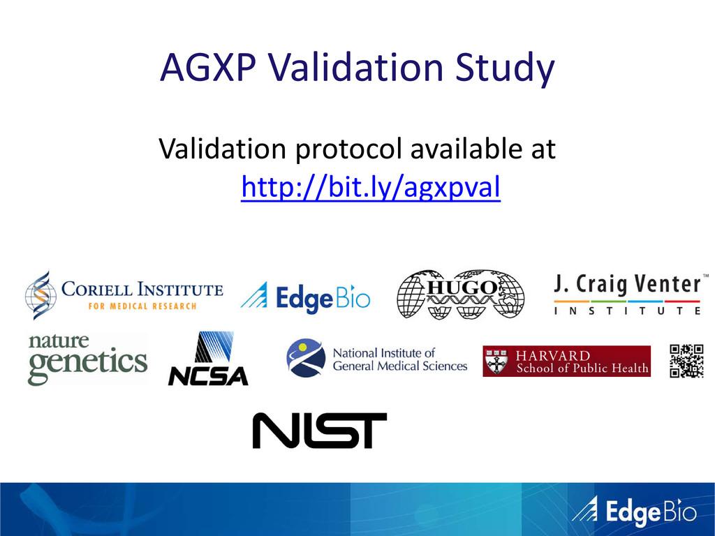 AGXP Validation Study Validation protocol avail...