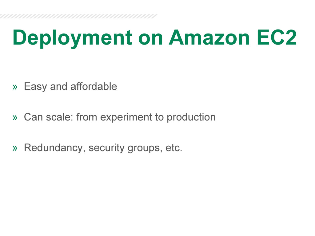 Deployment on Amazon EC2 » Easy and affordable...