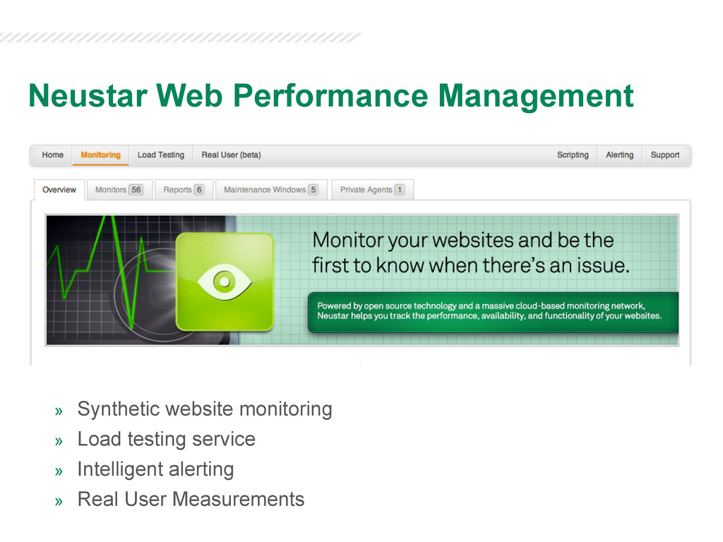 » Synthetic website monitoring » Load testing...