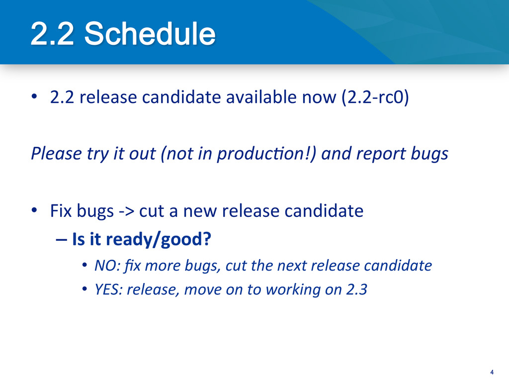4 • 2.2 release candidate available...