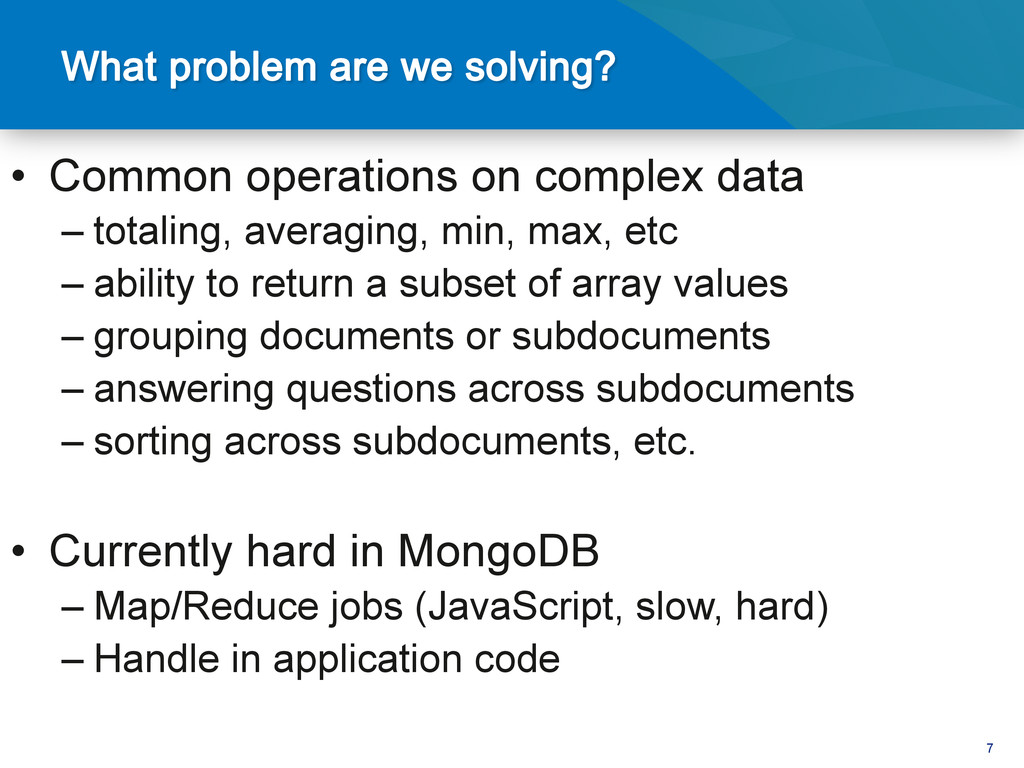 7 • Common operations on complex data –totali...