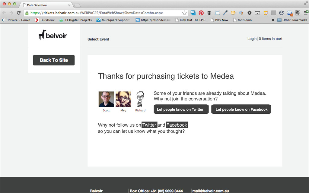 Thanks for purchasing tickets to Medea Why not ...
