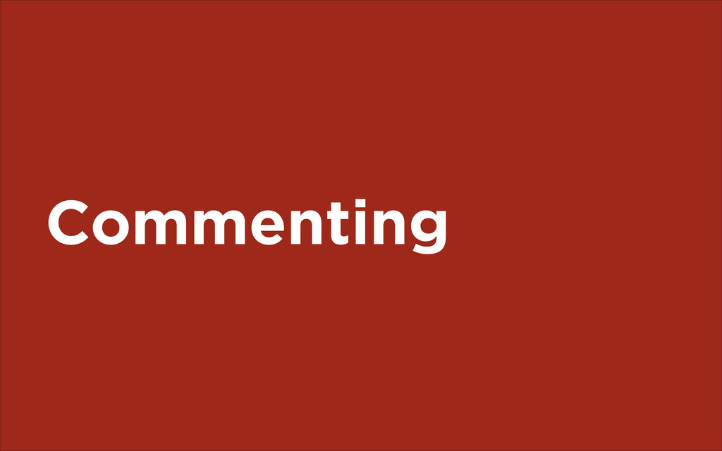 Commenting