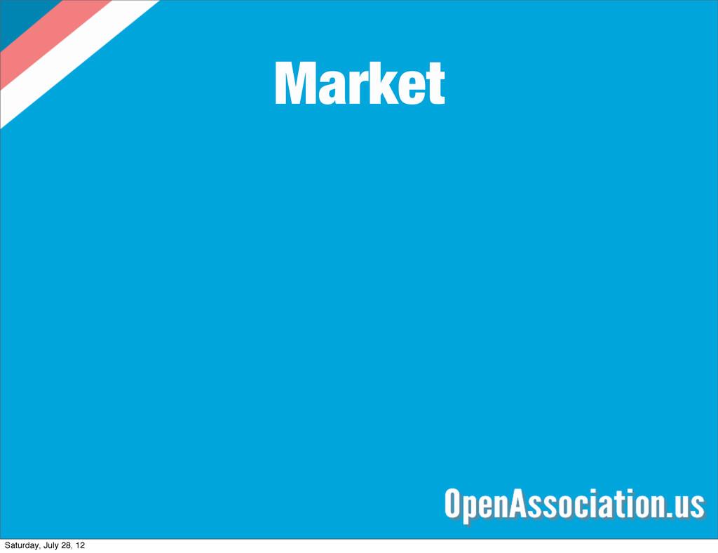 Market Saturday, July 28, 12
