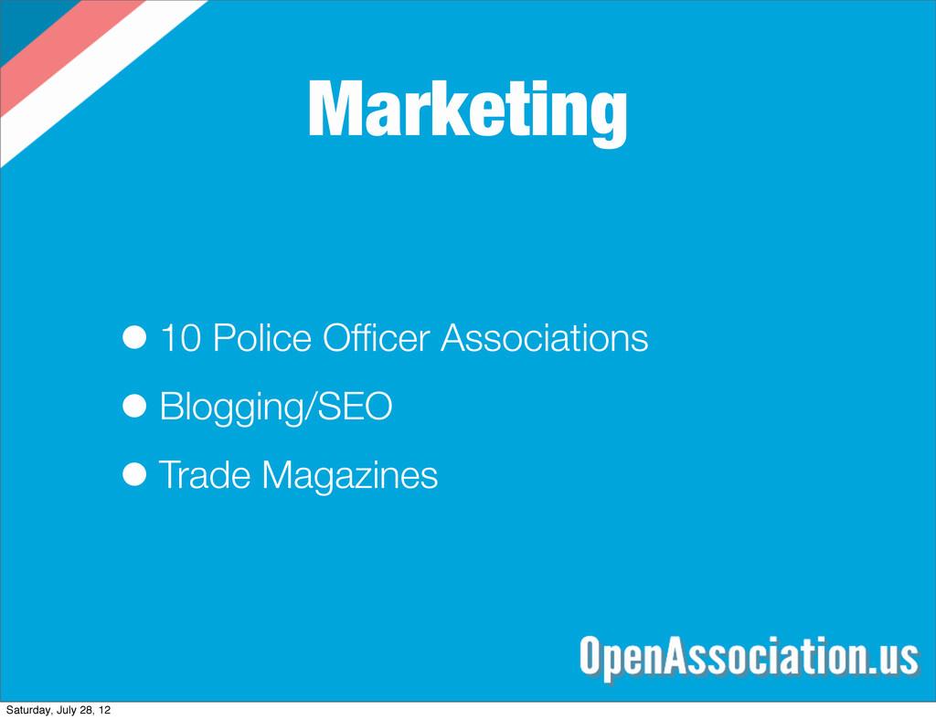 Marketing •10 Police Officer Associations •Blogg...