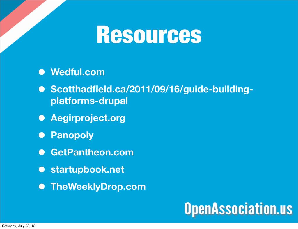 Resources • Wedful.com • Scotthadfield.ca/2011/0...