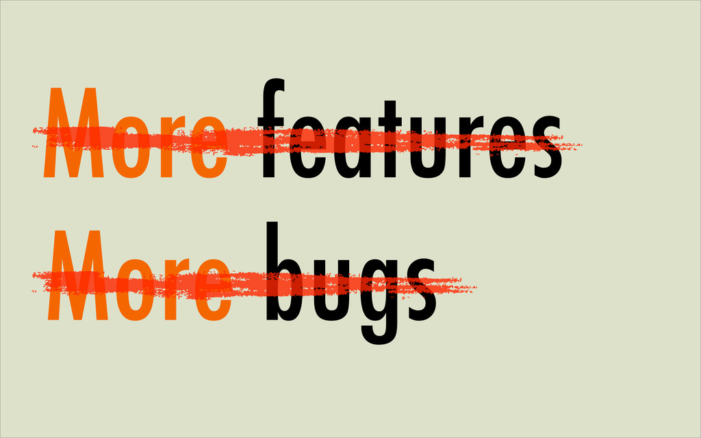 More features More bugs