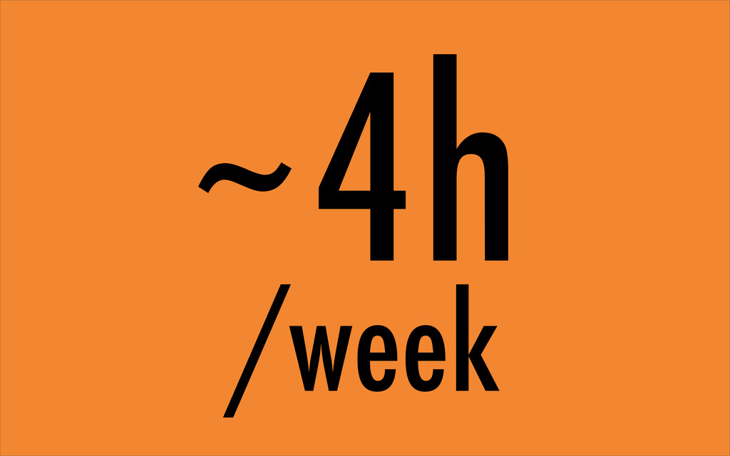 4h /week ~