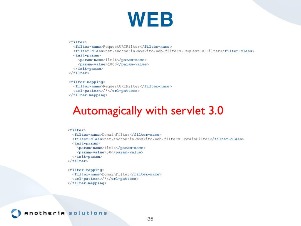 WEB 35 <filter> <filter-name>RequestURIFilter</...