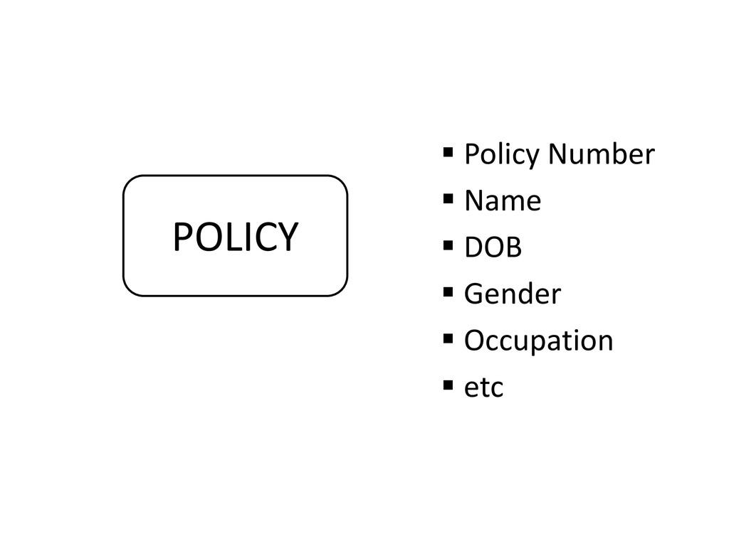  Policy Number  Name  DOB  Gender  Occupat...