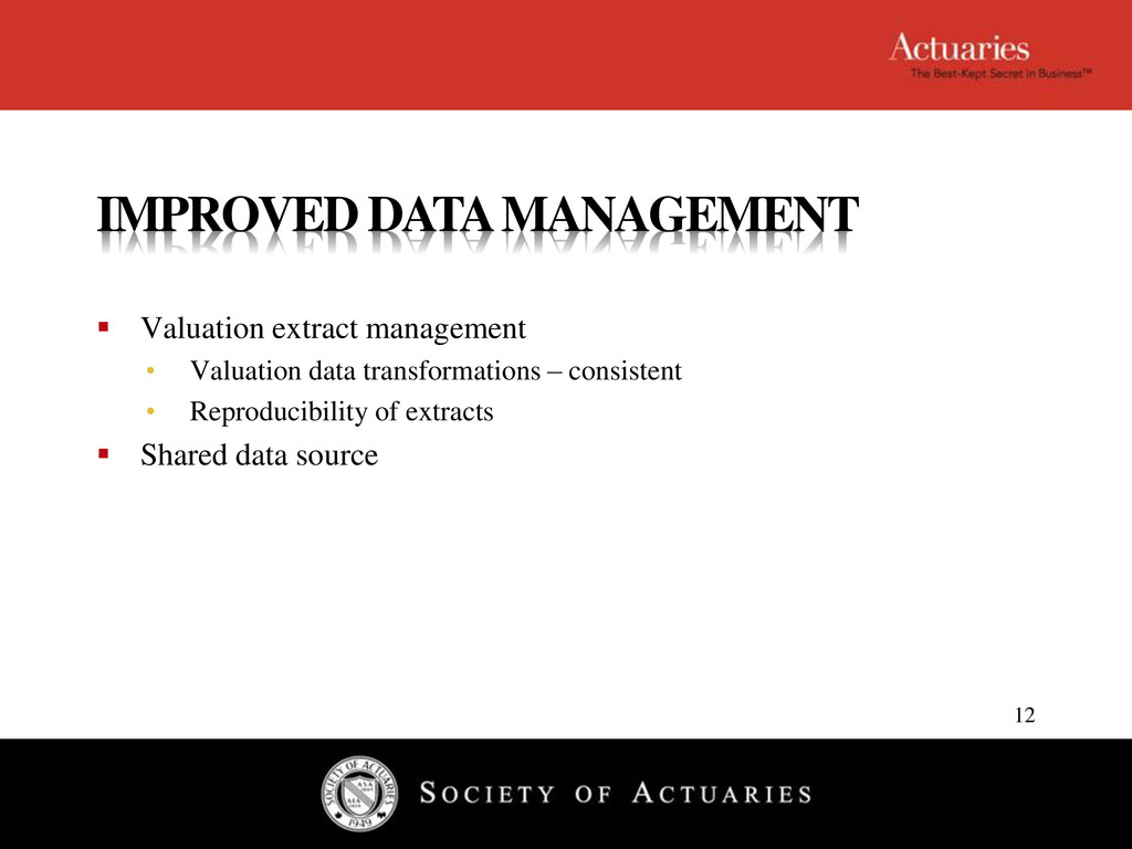 IMPROVED DATA MANAGEMENT  Valuation extract ma...