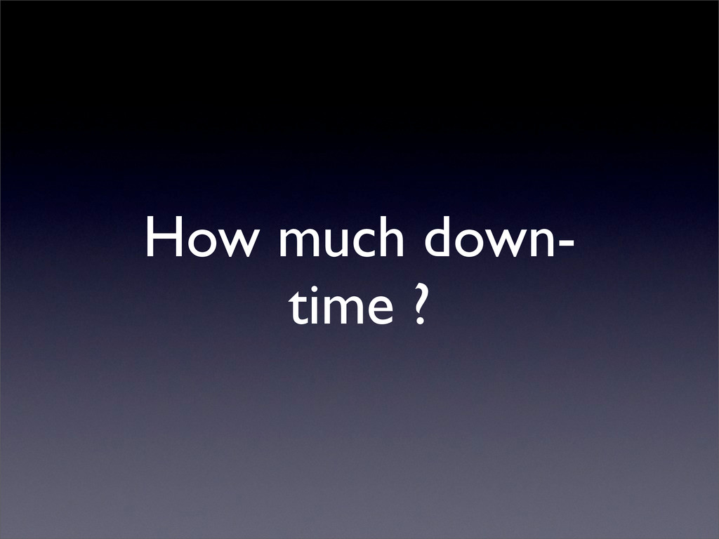 How much down- time ?