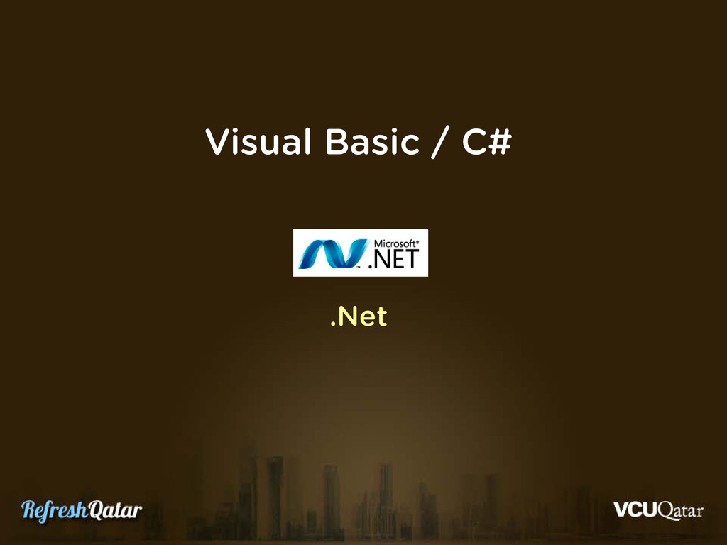 Visual Basic / C# .Net