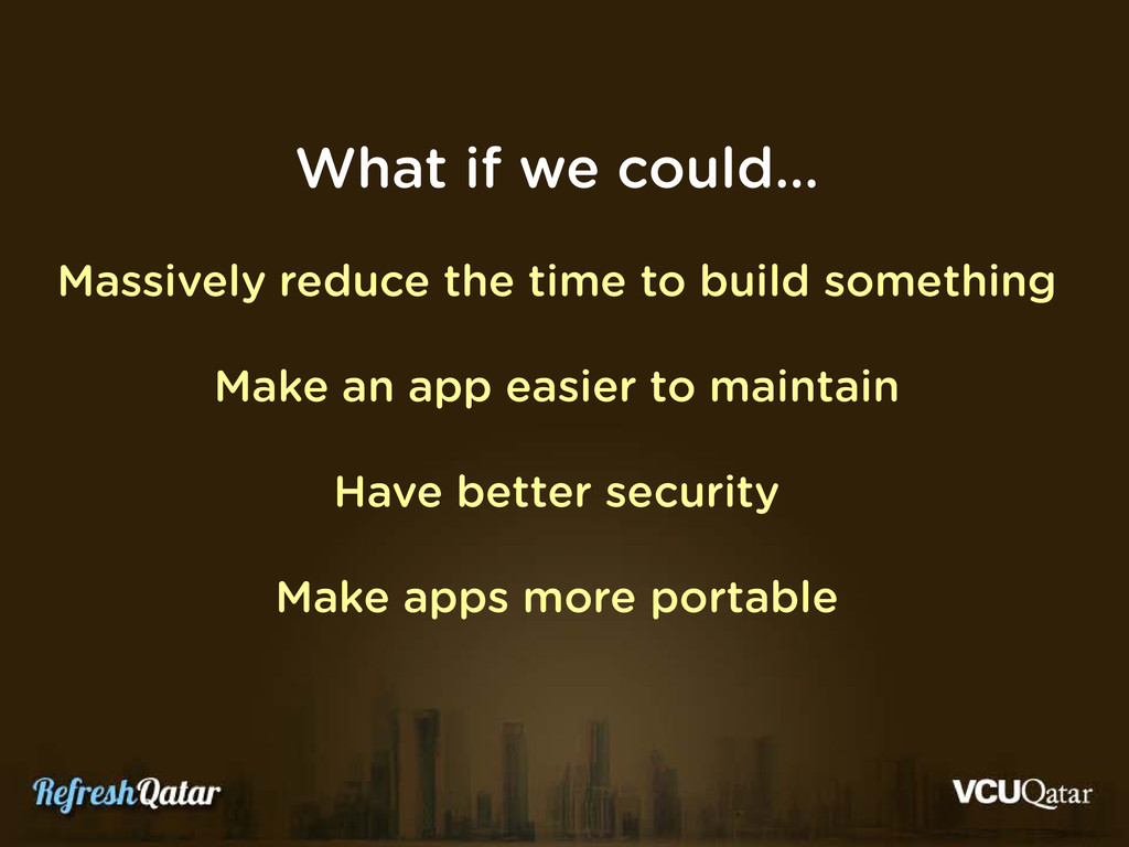 What if we could… Massively reduce the time to ...