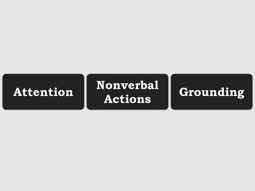 Attention Nonverbal Actions Grounding