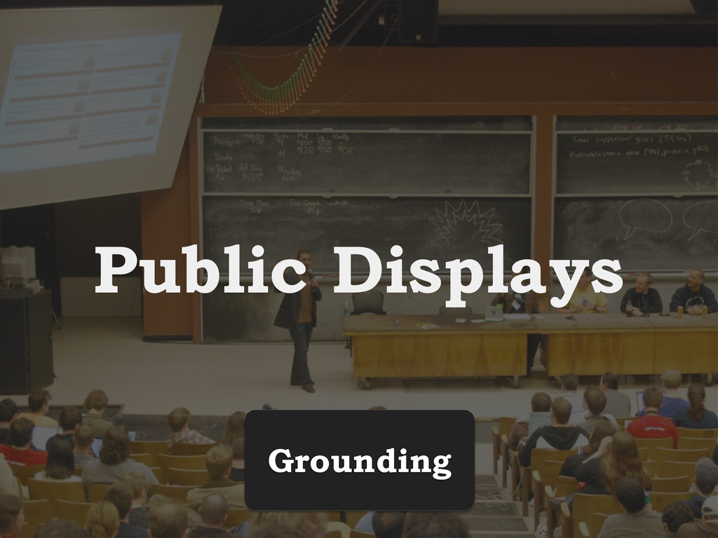 Public Displays Grounding