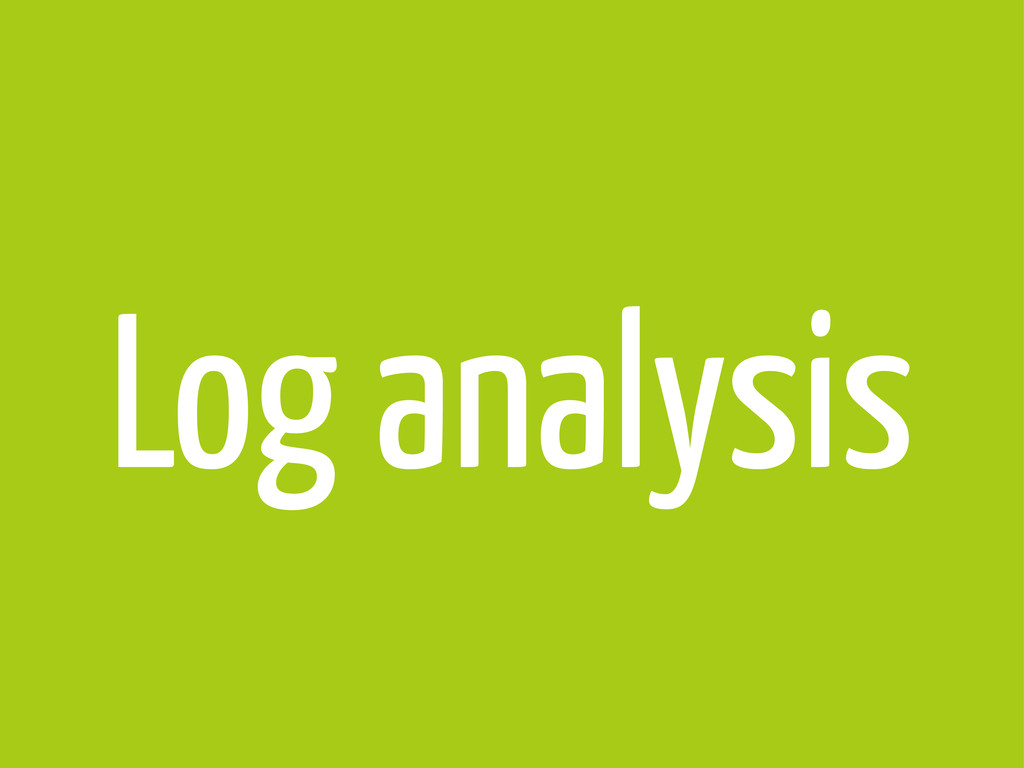 Log analysis