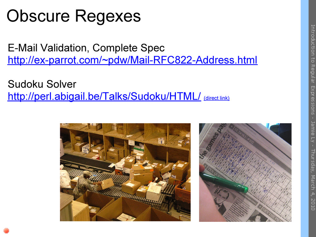 Obscure Regexes E-Mail Validation, Complete Spe...