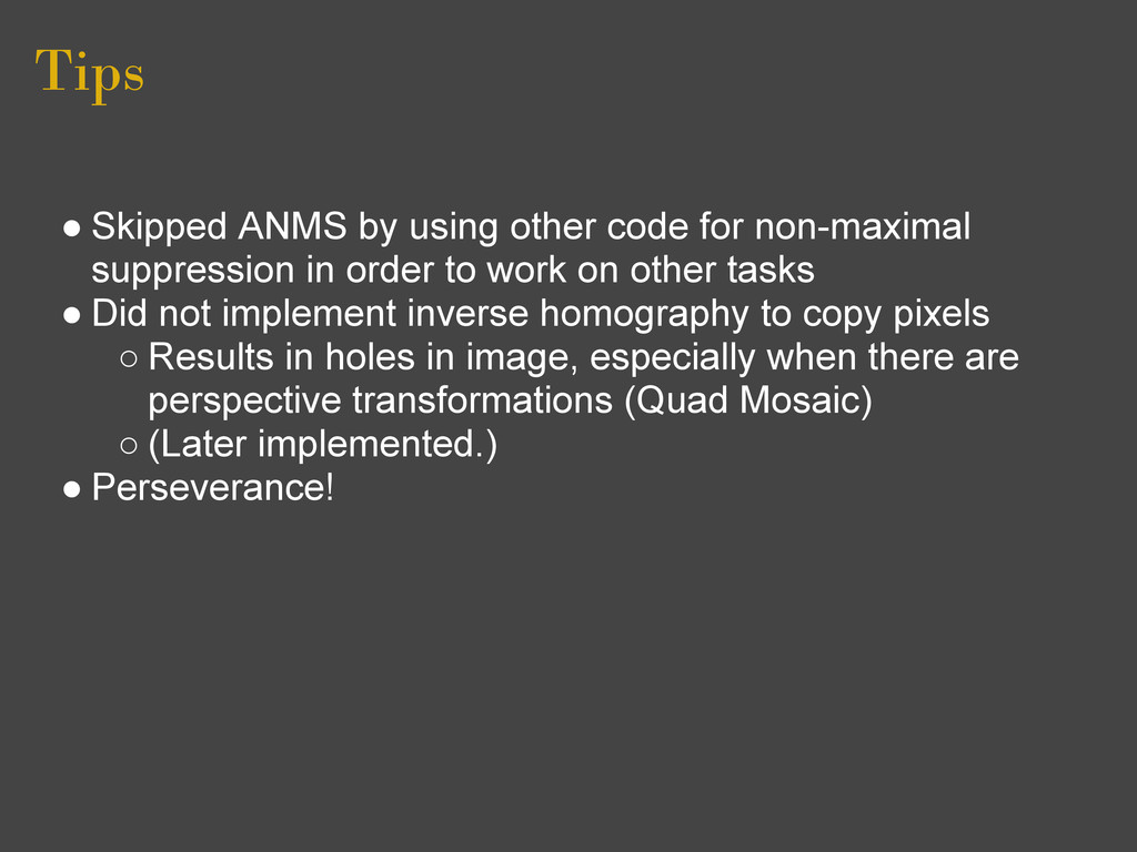 Tips ● Skipped ANMS by using other code for non...