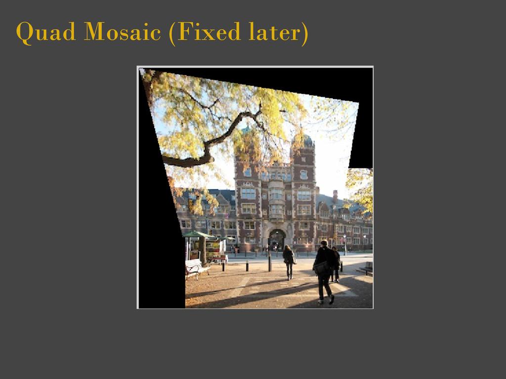Quad Mosaic (Fixed later)