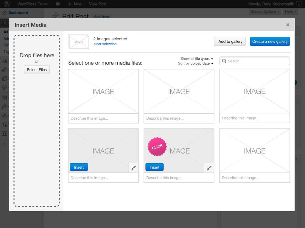 Select Files Drop files here or Insert Media Sel...