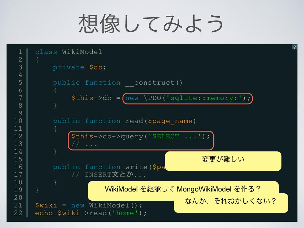 ૾ͯ͠ΈΑ͏ มߋ͕͍͠ WikiModel Λܧঝͯ͠ MongoWikiModel Λ...