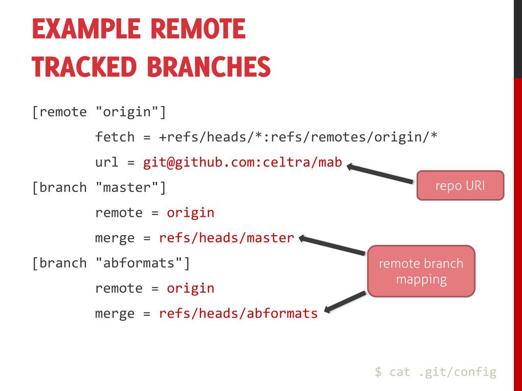 """EXAMPLE REMOTE TRACKED BRANCHES [remote """"origin..."""