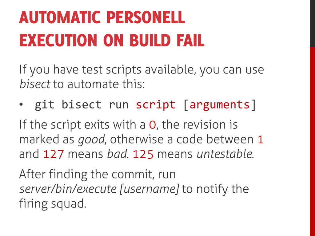 AUTOMATIC PERSONELL EXECUTION ON BUILD FAIL If ...