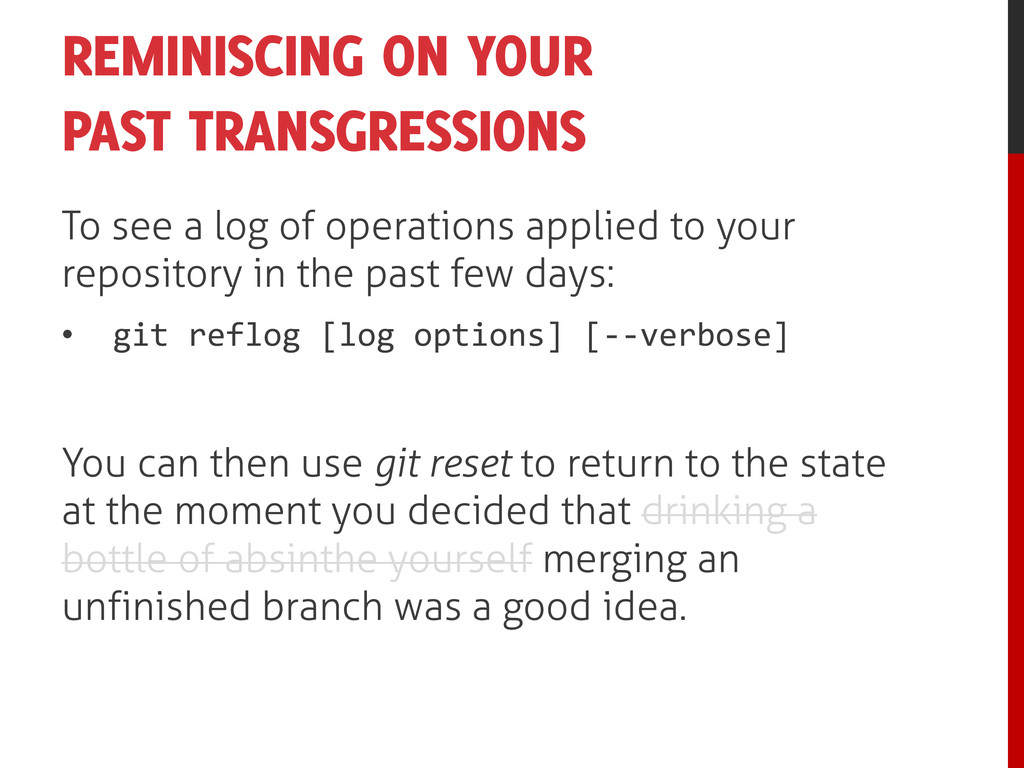 REMINISCING ON YOUR PAST TRANSGRESSIONS To see ...