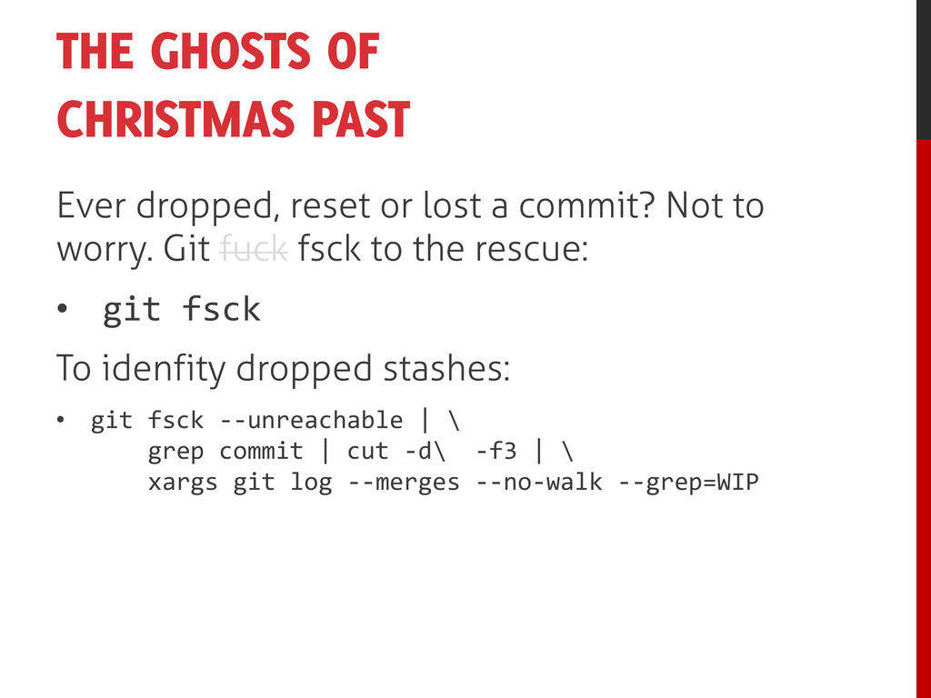THE GHOSTS OF CHRISTMAS PAST Ever dropped, rese...