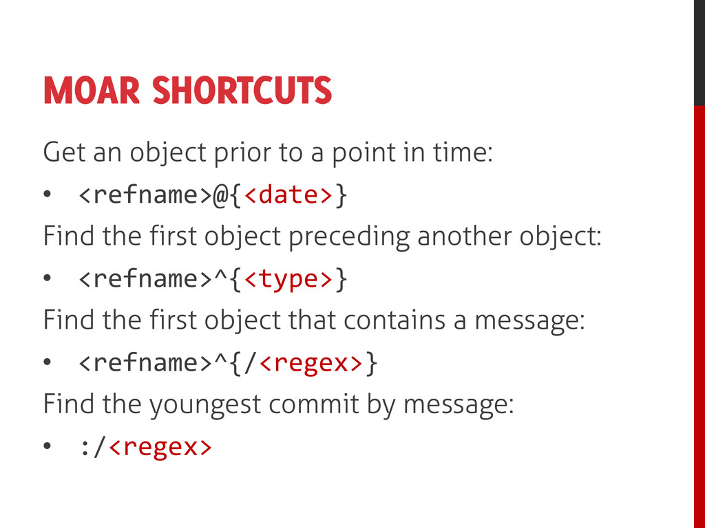 MOAR SHORTCUTS Get an object prior to a point i...