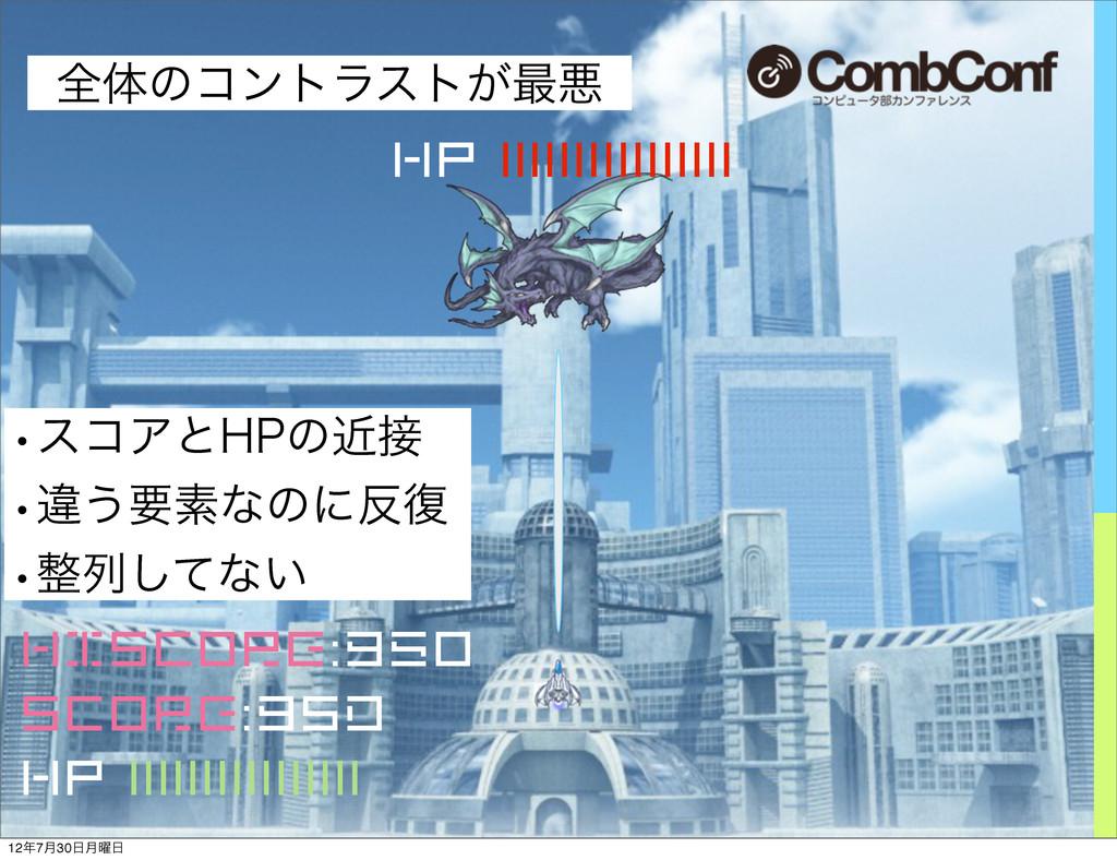 HISCORE:950 Score:9sd HP |||||||||||||||| HP ||...