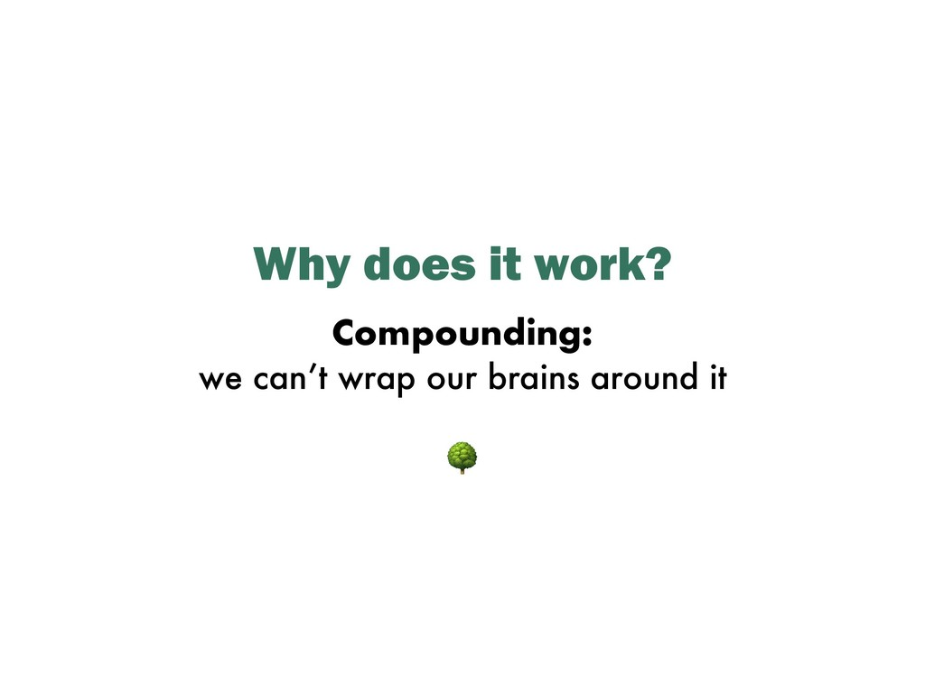 Why does it work? Compounding: we can't wrap ou...