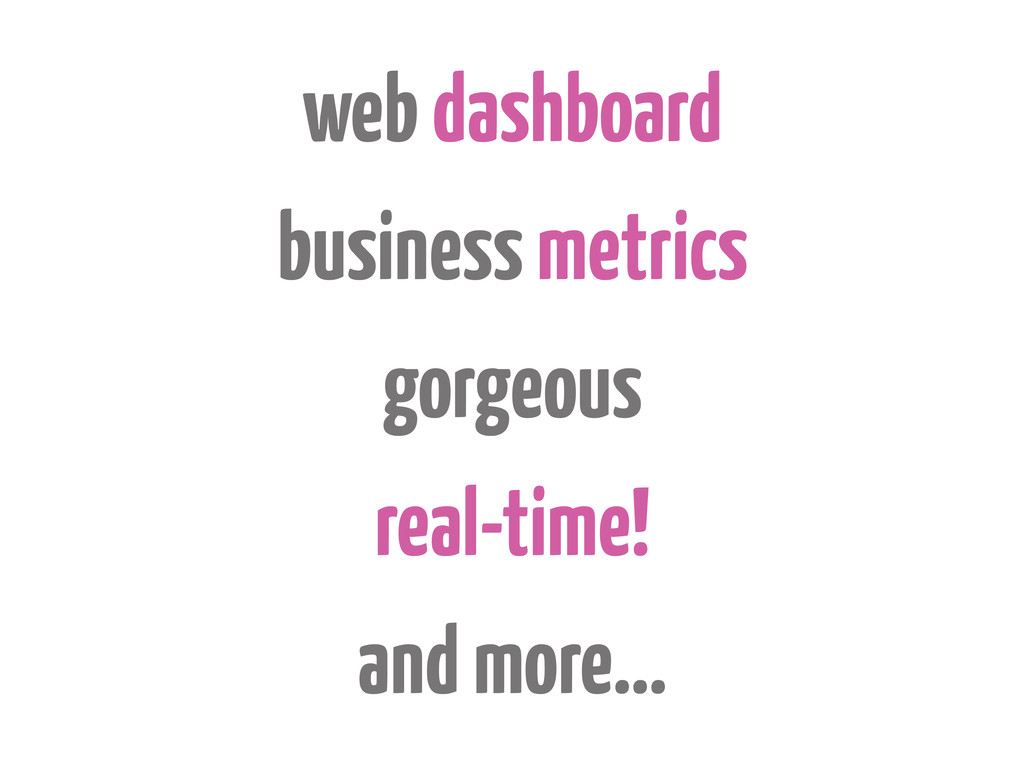 web dashboard business metrics gorgeous real-ti...