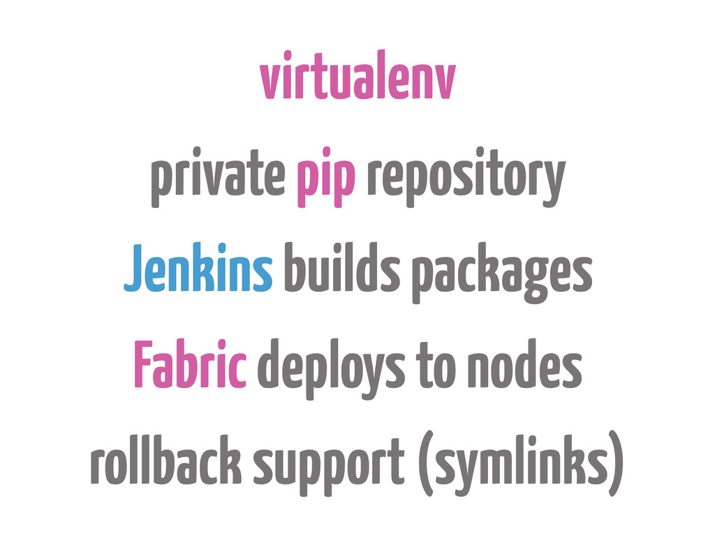 virtualenv private pip repository Jenkins build...