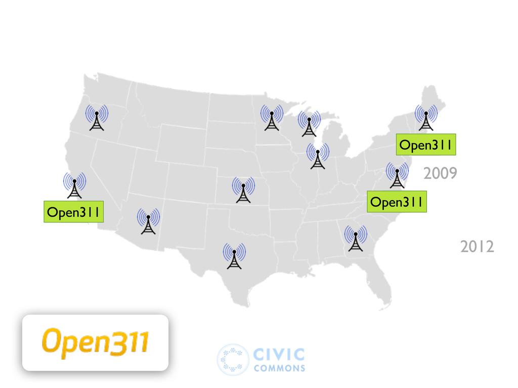 2009 311 311 311 Open311 Open311 Open311 2012