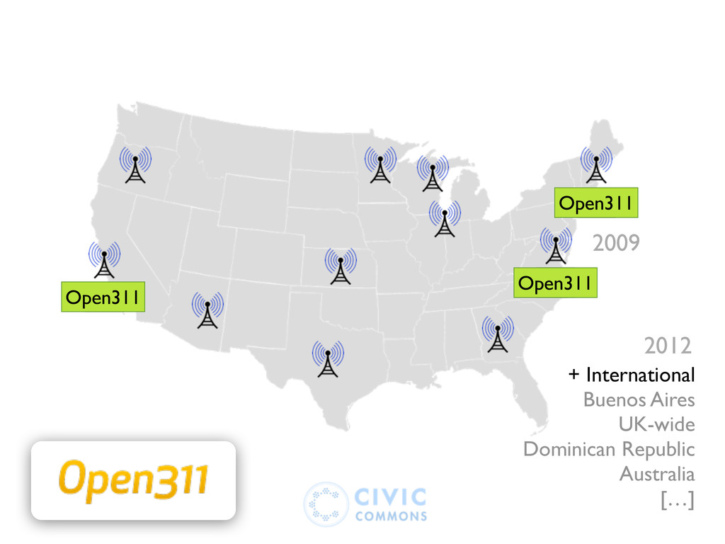2009 311 311 311 Open311 Open311 Open311 + Inte...