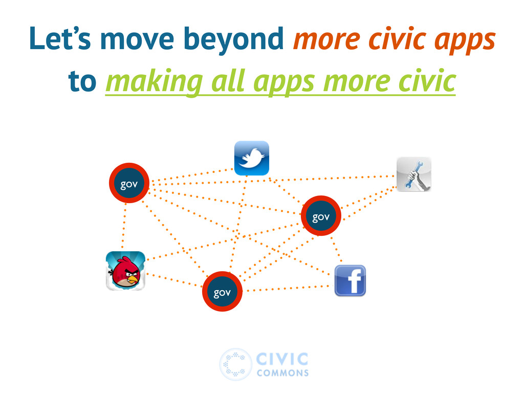 Let's move beyond more civic apps to making all...