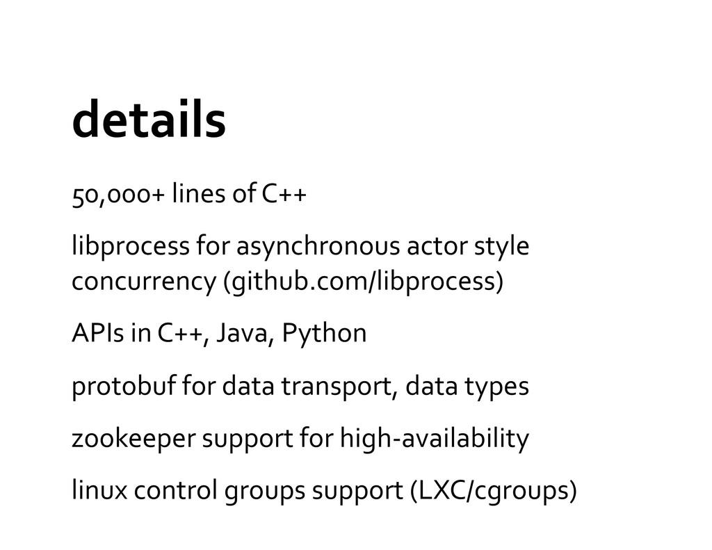 details  50,000+ lines of C++  l...